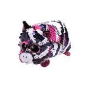 Teeny Tys Flippables - Zoey flitteres rózsaszín zebra plüss figura (10 cm)