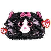 Ty Fashion Sequins flitteres macskás neszesszer - Kiki (13 cm)