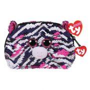 Ty Fashion Sequins flitteres zebrás neszesszer - Zoey zebra (13 cm)