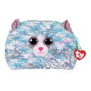 Ty Fashion Sequins flitteres macskás neszesszer - Whimsy macska (13 cm)