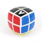 V-CUBE 2x2 versenykocka - Fehér alapszínû, lekerekített formájú