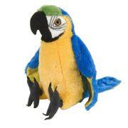 Ara papagáj plüss figura - kék (30 cm)