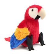 Ara papagáj plüss figura - piros (30 cm)