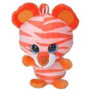 Tigris klips - illatos plüss kulcstartó - mandarin illattal (10 cm)