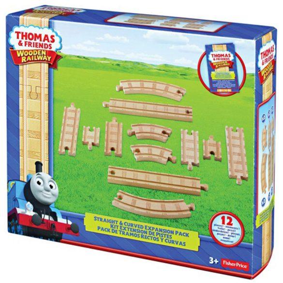 Thomas és barátai Egyenes és kanyar elemek fa sínkészlethez