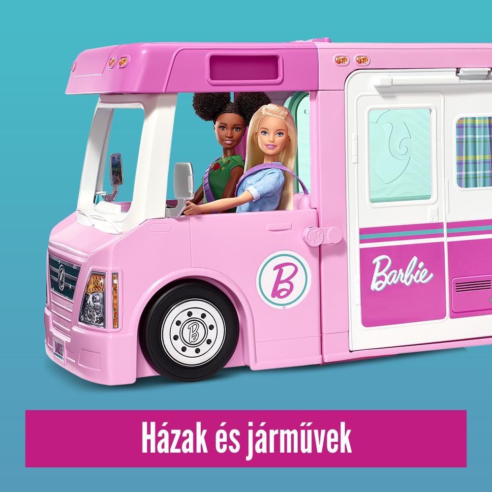 Barbie babaházak és járművek