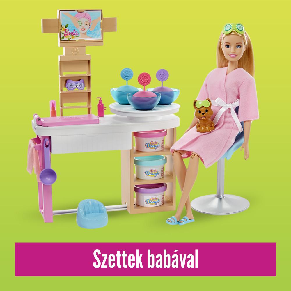 Barbie játékszettek babával